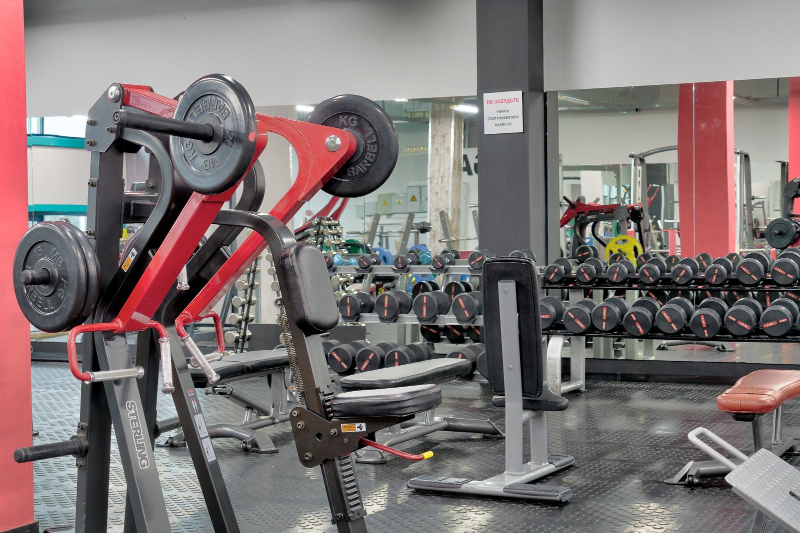 интерьерная съёмка фитнес клуба